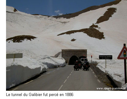 neige au tunnel du Galibier