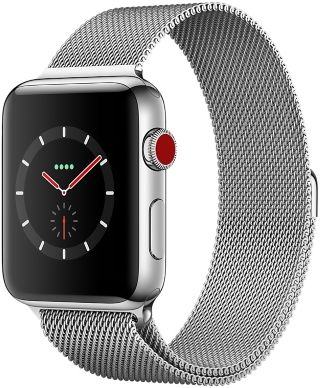 Apple Watch avec bracelet milanais