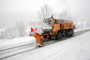 chasse-neige d�neigeant route
