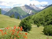 Les aiguilles d'Arves dans la mont�e du Glandon