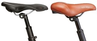 VTC ergonomic saddle and city bicycle saddle compared