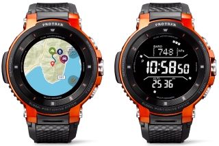 e079a556014 montre casio Pro Trek WSD-F30 orange