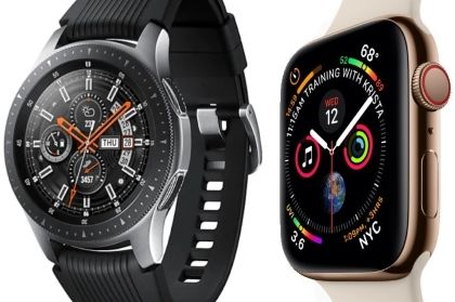 Galaxy Watch et Apple Watch comparées