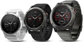 3 Fenix 5S, 5 and 5X watches
