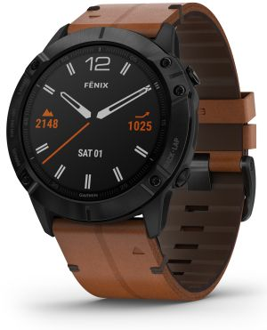 chic leather watch Fenix 6