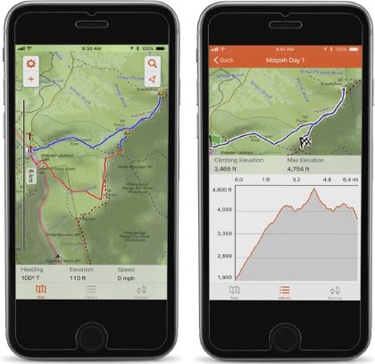 topo map display on Smartphone