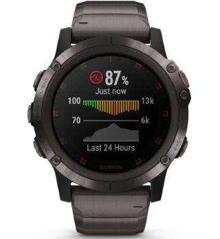 Montre GPS Garmin Fenix 5 Plus affichant pulse Ox