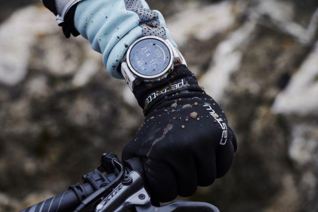 Mountain biker wearing Grit X