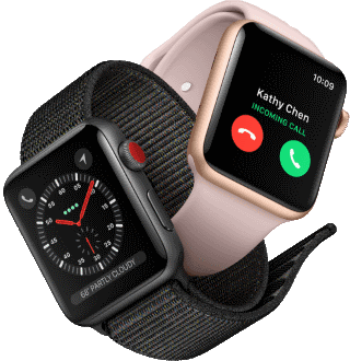 Apple Watch Series 3 recevant appel téléphonique