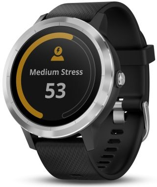 Montre affichant niveau de stress