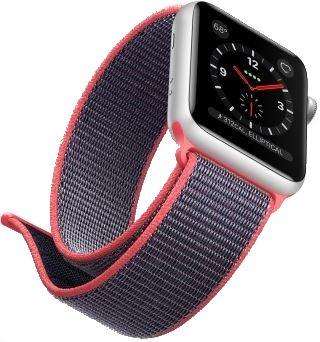 fd5ed44ddf58e2 bracelet Boucle Sport en nylon 4 couleurs mauve et rose Apple ...