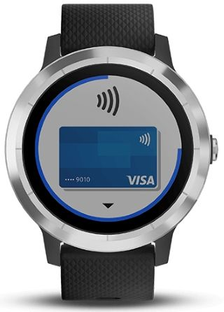 montre affichant paiement sans contact GarminPay
