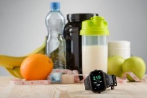 cardio watch and food for athletes