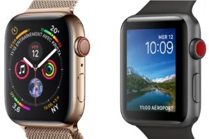 montres Apple Watch Series 3 et 4 comparées