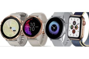 Suunto 7, Apple Watch 5, Garmin Venu and Samsung Galaxy Watch Active 2 compared